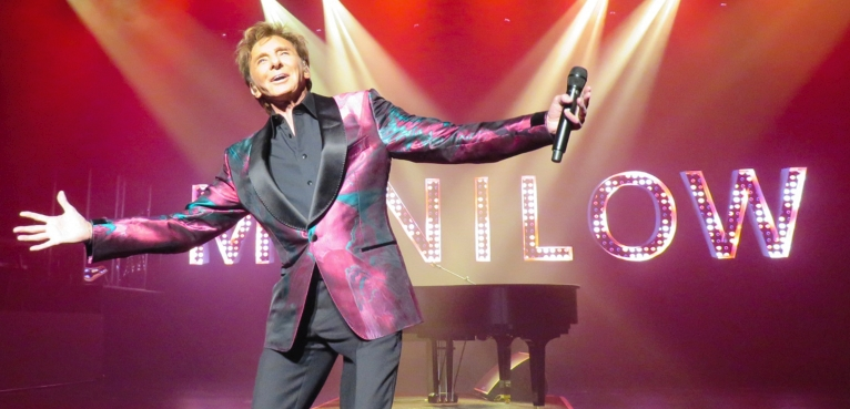4 Barry Manilow Photo American Singer Songwriter Music Poster On Stage Smiling